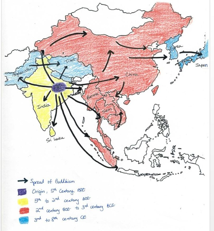The Spread of Buddhism - Ancient india